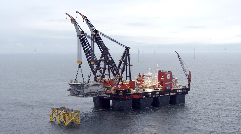 Heerema installs Ørsted's Hornsea Two offshore substations