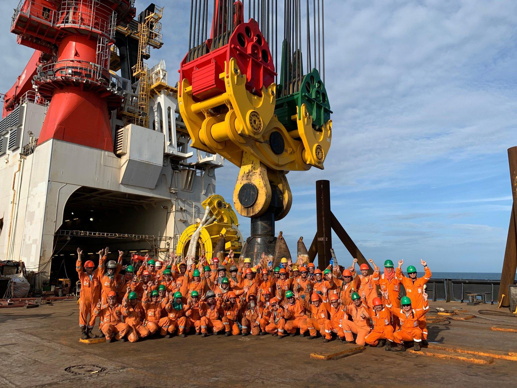 Team onboard Aegir Greater Changhua project