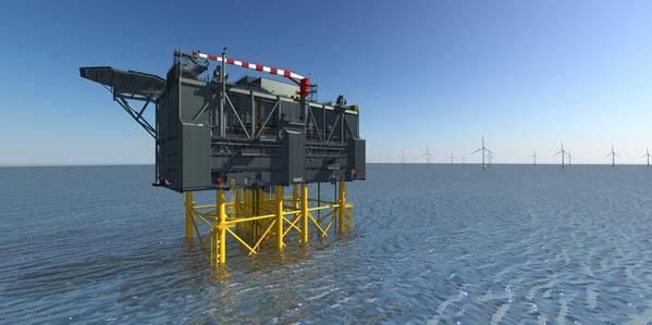Artist Impression Sofia Wind Farm HVDC offshore converter platform