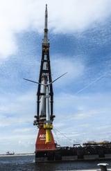 Floating installation of next-generation wind turbine generators